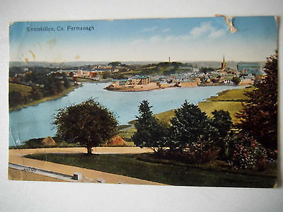 Enniskillen Co Fermanagh N Ireland 1919 Old Postcard