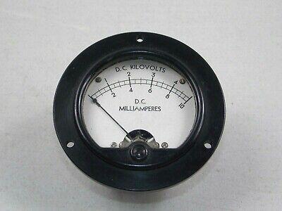 Simpson D.c.milliamperes Kilovolts Panel Meter Model 27 3.5 27868  9555