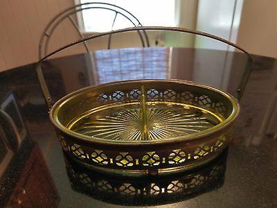 Gorgeous Vaseline  Glass Condiment Tray