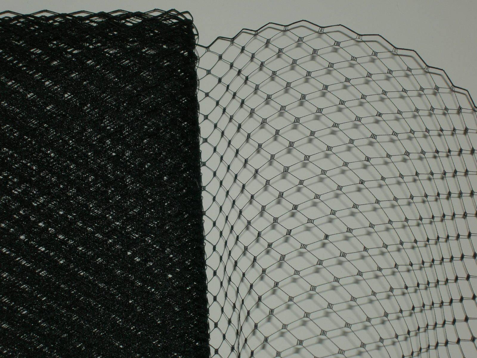 Black bird cage hat veil netting french birdcage net 1+