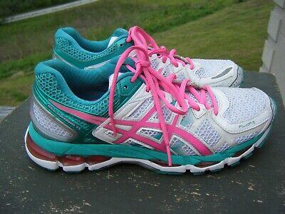 Asics Gel Kayano 21 Women's Running Shoes Turquoise Green/ White ~Sz 8.5