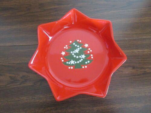 """WAECHTERSBACH CHRISTMAS TREE 10"""" STAR-SHAPED SERVING BOWL"""