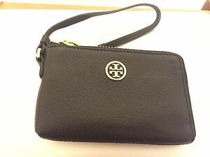 Tory Burch Robinson Pebbled Leather Wristlet