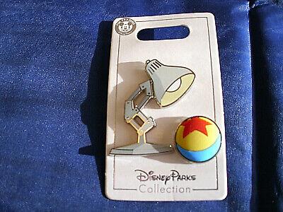 Disney * PIXAR LAMP & BEACH BALL * New 2-Pin Set on Card Trading Pins