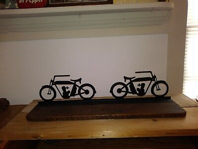 "Harley Davidson early type 1 cylinder Wall Shelf 28"" x 6""   for sale  Shipping to Canada"