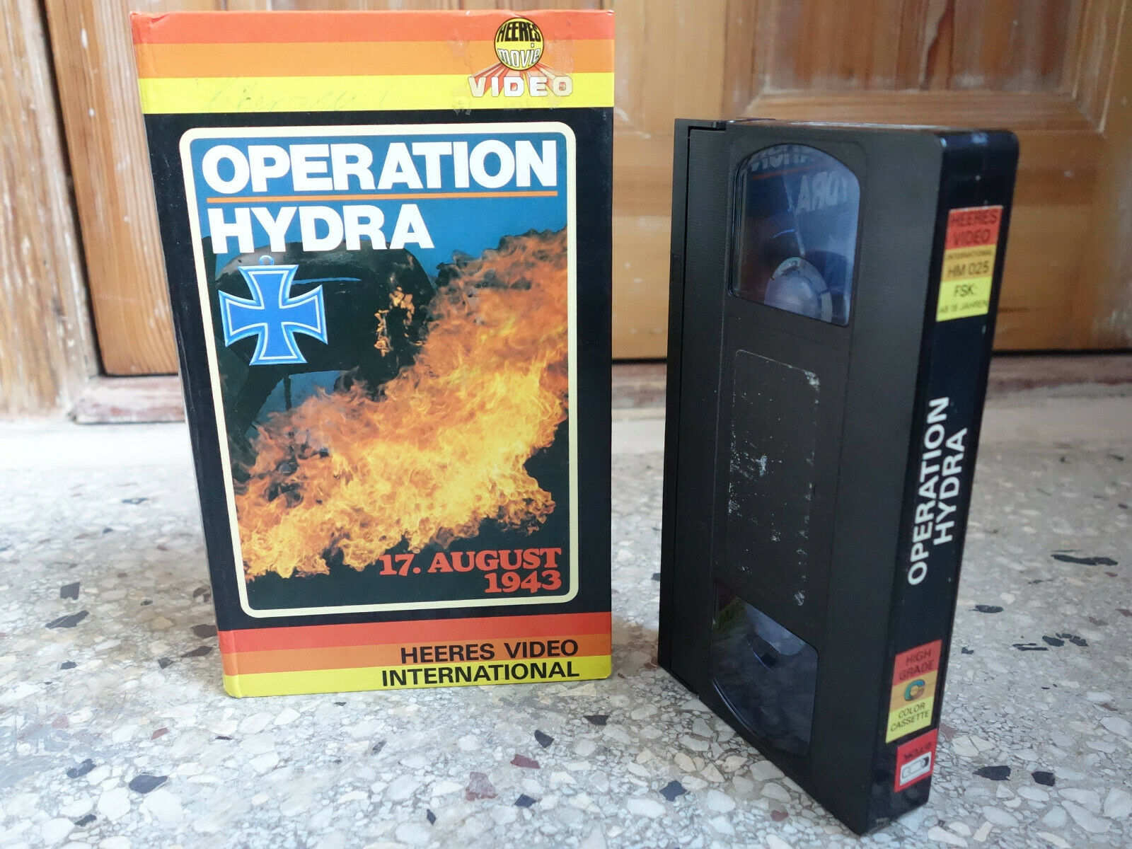 Operation Hydra HEERES VIDEO INTERNATIONAL VHS no Glasbox Hartbox
