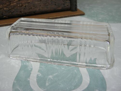 Vintage Ribbed Butter Dish Clear Depression Glass Cover Only