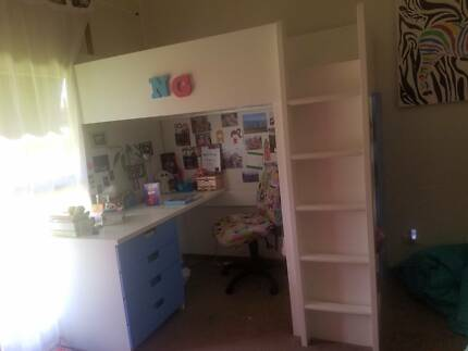 Single bunk bed with matrice  desk  shelves and closet. fantastic furniture bunk beds   Beds   Gumtree Australia Free