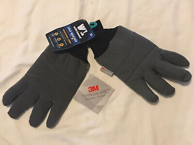 Wells Lamont Cold Weather Jersey Gloves Grey Thinsulate  Xlarge 3m