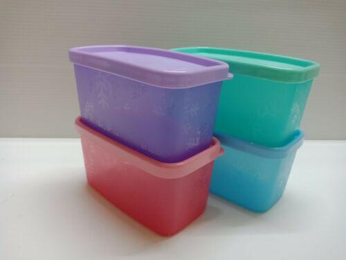 4 Tupperware Cool Square Half Mini Snowflake container Multicolor:200ml/0.8-cup*