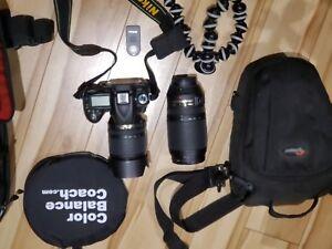 Camera NIKON D90 avec 2 objectifs et plus...le tout pour 900$