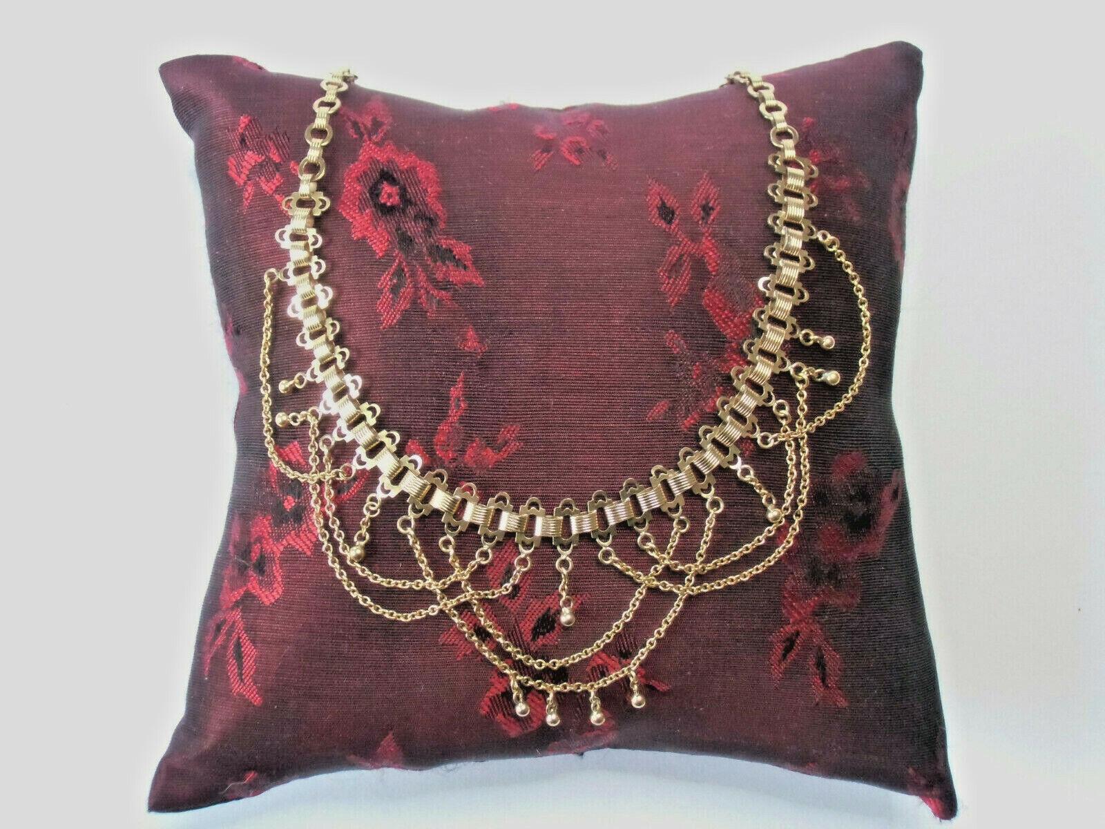 Jugendstil Collier Kette Halskette Rotgold Doublé Tombak Kette. Selten