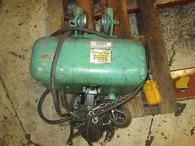 Harischfeger I Beam Crane 12 Ton Max Capacity 1800 Max Rpm 3 Ph