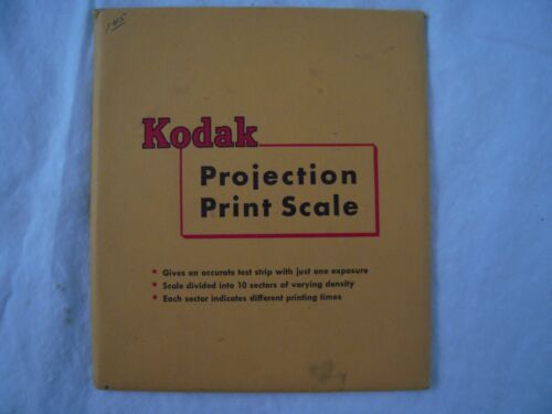 Vintage Kodak Projection Print Scale with Instructions