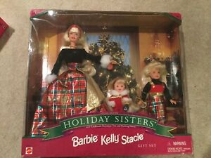 Holiday Sisters Barbie Kelly, Stacie Special Edition Gift Set