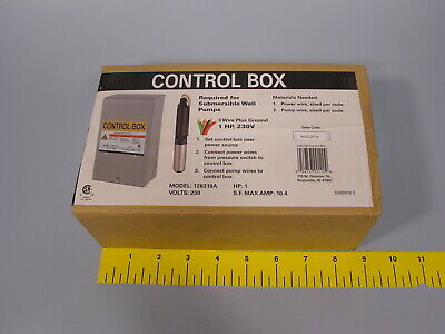 Sealed Flint Walling 126319a Control Box For Franklin Submersible Pump 230v