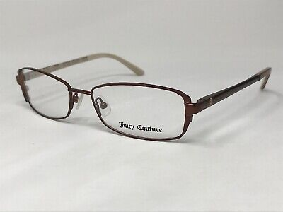 JUICY COUTURE JU114 0DN5 Eyeglasses Frame 53-16-135 Dark Brown Matte VA45 Juicy Couture Brown Eyeglasses