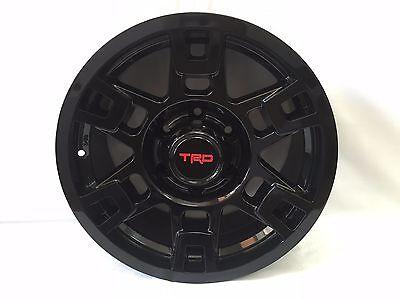 Toyota OEM TRD Pro SEMA Black 17X8 Aluminum Wheel Set of 4 TACOMAWORLD