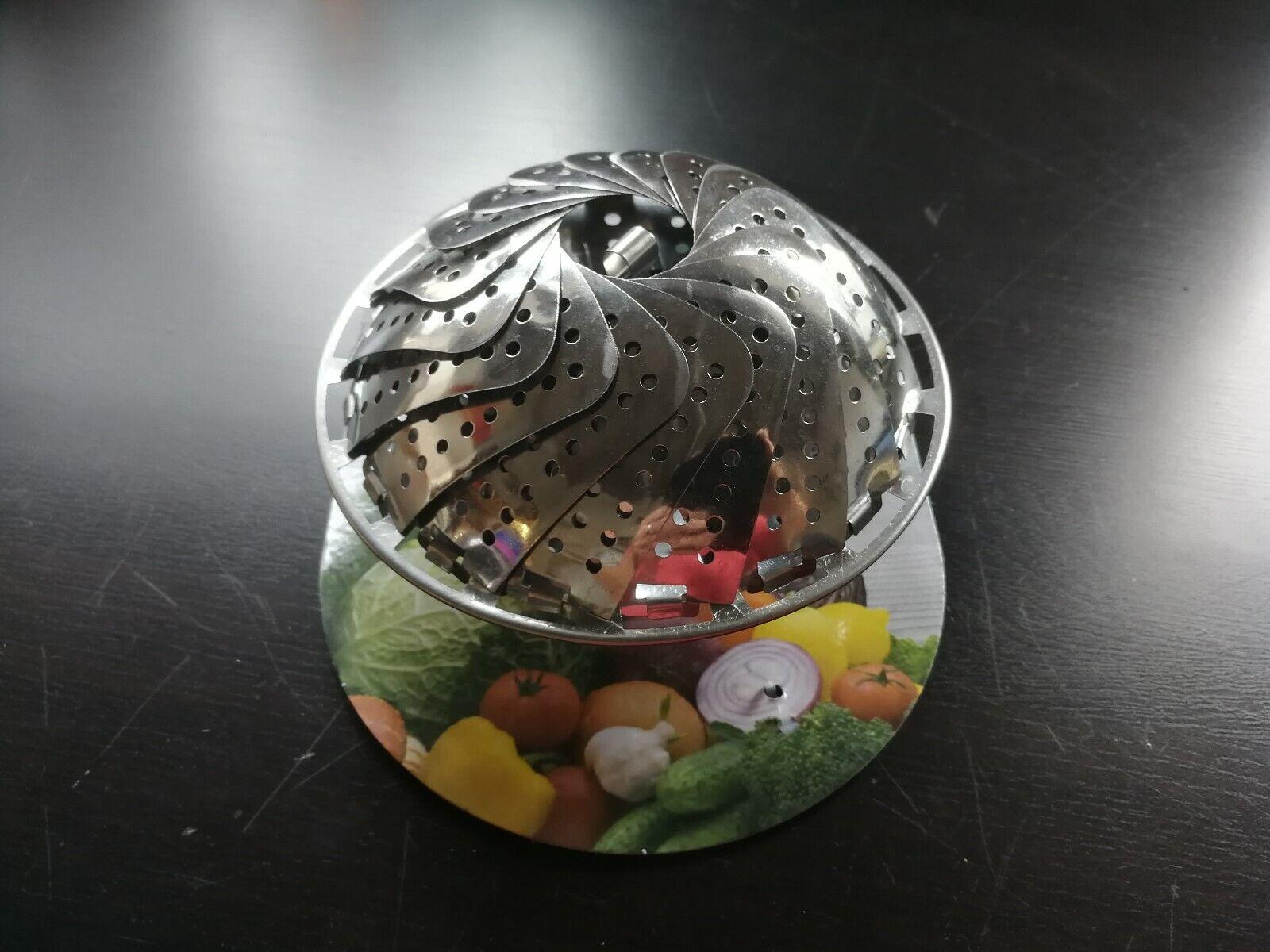 Dünsteinsatz Dämpfeinsatz Dampfgarer Einsatz faltbar Dünster garen NEU Metall