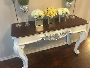 Gorgeous French Provincial Shabby Chic Hallway/Sofa Table
