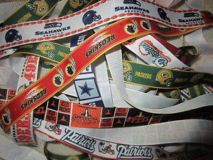 GROSGRAIN NFL FOOTBALL SPORTS TEAM RIBBON LOT FOR HAIR BOWS *FREE SHIPPING*
