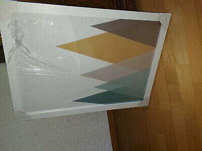 Abstrackter Kunstdruck Berge Gebirge modern gerahmtB-Ware