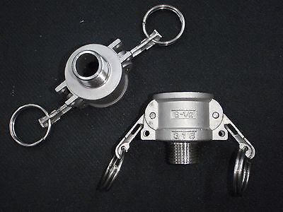 Stainless Steel Cam Lock Adapter 12 Female - 12 Npt Male Nipple Cl14-050