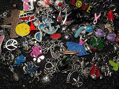 ~ 85 PiEcE LoT ~ MiXeD ThEMe EnAmEL SiLvER GoLd ChArMs