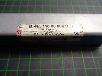 1 x Pokolm Verlängerung Ø20; Ø8 zum Einschrumpfen; 110 08 604 S
