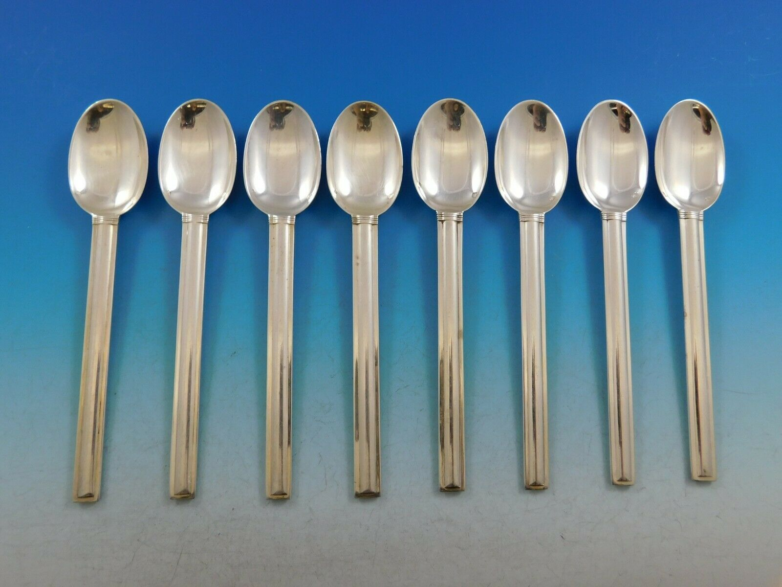 """Retail $310 Royal by Puiforcat French Sterling Silver Teaspoon 6/"""" New"""