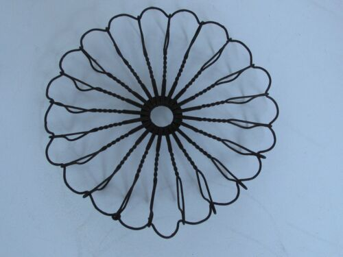 "Antique Round Twisted Wire Trivet  5 3/4"" diameter"