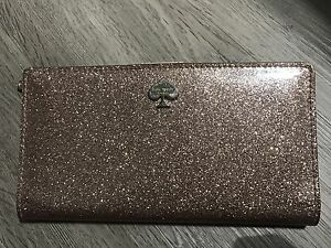 Kate Spade Rose Gold Glitterbug Wallet Limited Edition