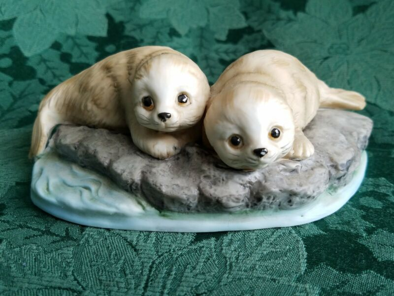 Canadian Harp Seals Figurine From 1981