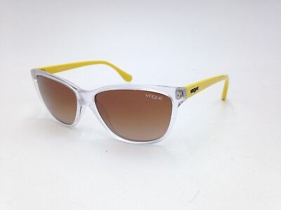 $225 VOGUE WOMENS YELLOW SUNGLASSES EYE GLASSES BROWN GRADIENT UV LENS VO 2729-S