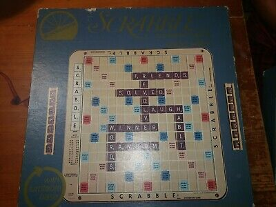 Vintage 1977 Deluxe Scrabble Edition Selchow & Righter Crossword Game - Complete