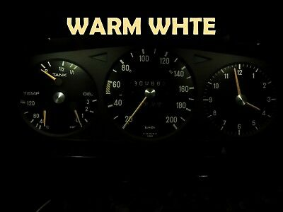 77 85 Mercedes Benz W123 Chassis Gauge Cluster LED Dashboard Bulbs Warm White