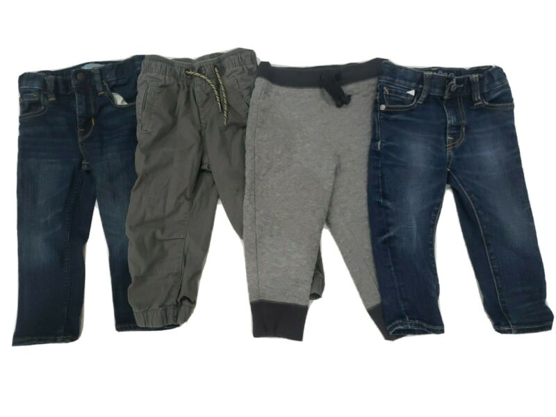 Lot of 4 Boys Baby Gap Bottoms Assorted Jeans/Sweats/Joggers Size18-24M(2 Years)