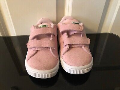 BRAND NEW PUMA CUTE CHILD GIRLS SEUDE LEATHER TRAINERS SHOES UK INFANT 8 EUR 25