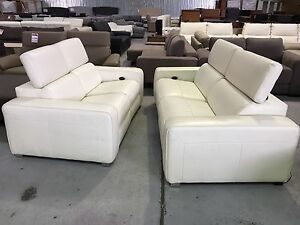 Factory Second Leather Electric Recliner 2 Seat Set Epping Whittlesea Area Preview