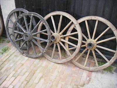 Ancient wooden ox cart wheels. 900 - 950mm diameter