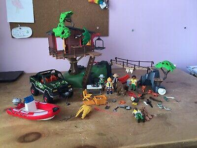 Playmobil 5557 Wildlife Adventure Tree House Playset With Extras