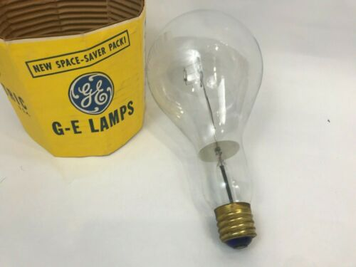 Vintage General Electric 1000 Watt Light Bulb Lamps Large Prop Science Stem