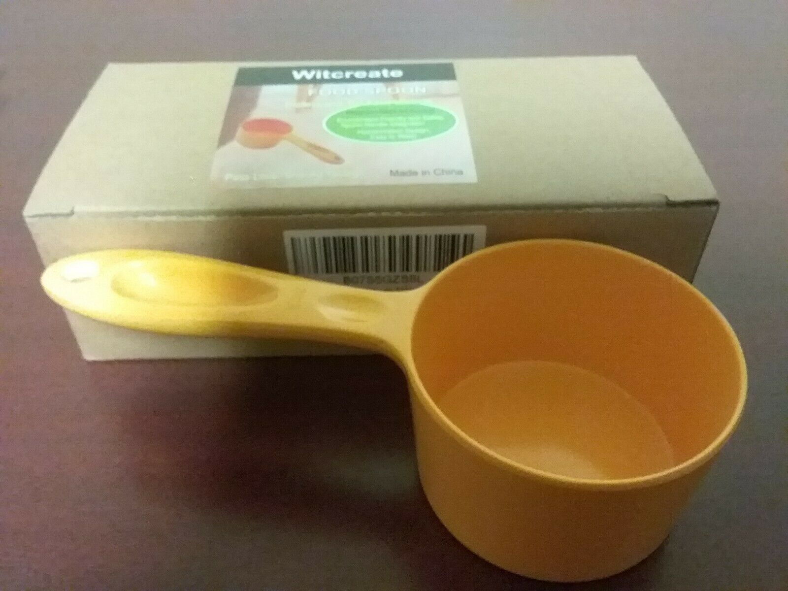 Witcreate Pet Supplies  Professional Pet Food Scoop Spoon 200ml  Yellow Melamine