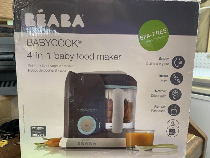 Beaba Babycook Food Blender And Steamer - Latte Mint NEW DMGD BOX