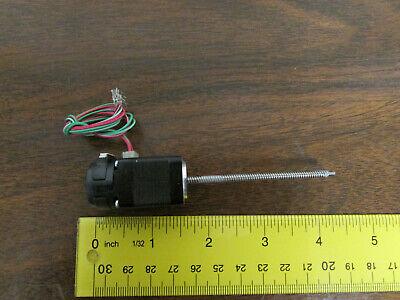 Hsi 1414 Stepper Motor W Encoder Screw Linear Actuator 18 Rod 2.5 L Nos