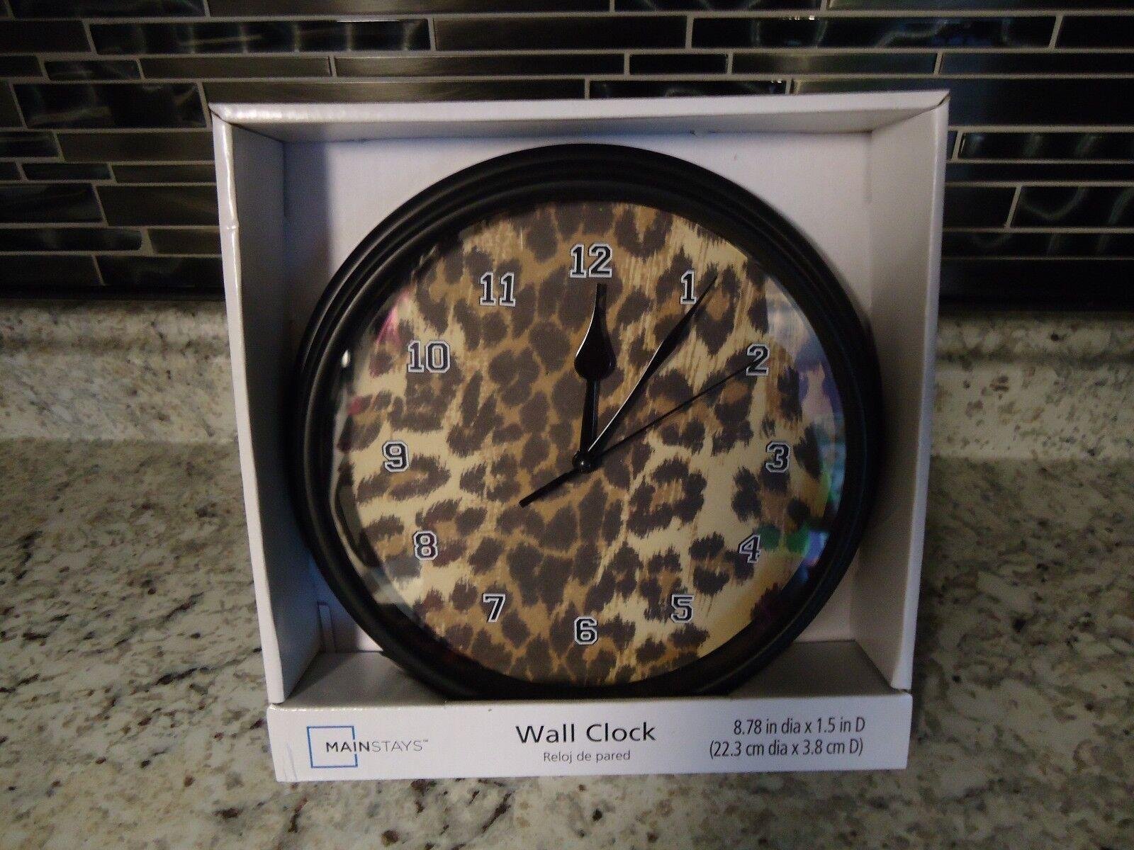 NEW LEOPARD PRINT WALL CLOCK