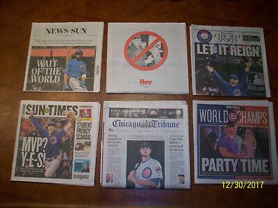 Chicago Tribune Chicago Cub Kris Bryant Wins Mvp  Cubs World Series Newspapers