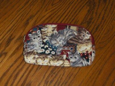 Ted Lapidus Cat Cosmetic Bag Paris Clutch Handbag Purse Tote Kitty Makeup Case ](Cat Makeup)
