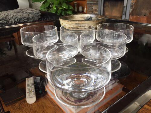 Boxed Set of 6 Whitefriars Sundae Glasses in Flint Model M131 - Mint