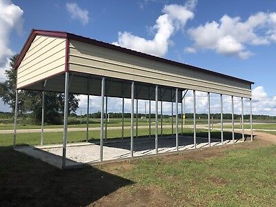 Rv Carport 18x41 12 Walls 140mph Built And Installed On Your Property